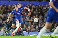 Chelsea midfielder Ross Barkley (8) and Sheffield Wednesday midfielder Joey Pelupessy (8) during the The FA Cup fourth round match between Chelsea and Sheffield Wednesday at Stamford Bridge, London, England on 27 January 2019.