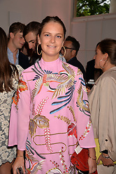 Jemima Herbert at the Tatler's English Roses 2017 party in association with Michael Kors held at the Saatchi Gallery, London England. 29 June 2017.