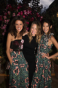 ANNA FALCONNER; KELLY EASTWOOD, SARAH-ANN MACKLIN, spotted at Bloom & Wild's exclusive event at 5 Hertford Street last night. 5 September 2017. The event was announcing the new partnership between the UK's most loved florist, Bloom & Wild and British floral design icon Nikki Tibbles Wild at Heart. Cocooned in swaths of vibrant Autumn blooms, guests enjoyed floral-inspired cocktails from Sipsmith and bubbles from Chandon, with canapés put on by 5 Hertford Street. Three limited edition bouquets from the partnership can be bought through Bloom & Wild's website from the 1st September.  bloomandwild.com/WAH
