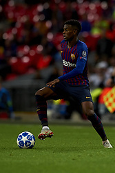 October 3, 2018 - London, England, United Kingdom - Nelson Semedo of Barcelona  in action during the Group B match of the UEFA Champions League between Tottenham Hotspurs and FC Barcelona at Wembley Stadium on October 03, 2018 in London, England. (Credit Image: © Jose Breton/NurPhoto/ZUMA Press)