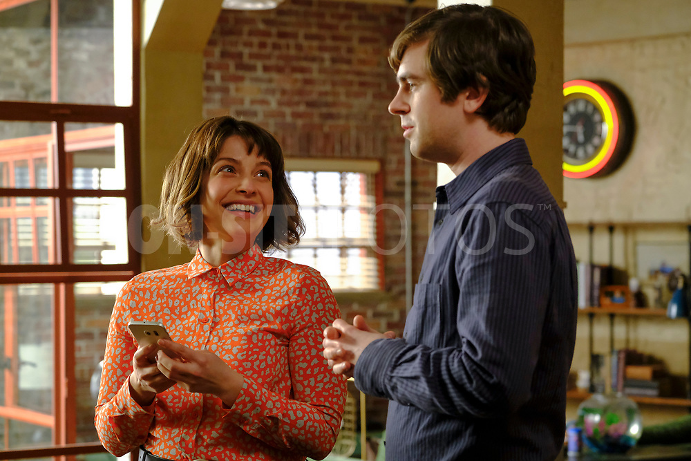 """THE GOOD DOCTOR - """"Gender Reveal"""" – After finding out the gender of their unborn child, Lea's enthusiasm prompts Shaun to make an effort to be a more supportive partner. Meanwhile, the team treats a navy pilot whose previous doctor's misdiagnosis compromises her chances at a full recovery on an all-new episode of """"The Good Doctor,"""" MONDAY, APRIL 19 (10:00-11:00 p.m. EDT), on ABC. (ABC/Jeff Weddell)<br /> PAIGE SPARA"""