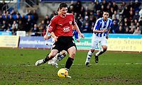 Photo: Alan Crowhurst.<br />Brighton & Hove Albion v Bristol City. Coca Cola League 1. 24/02/2007. Bristol's Phil Jevons scores his second from the penalty spot 0-2.