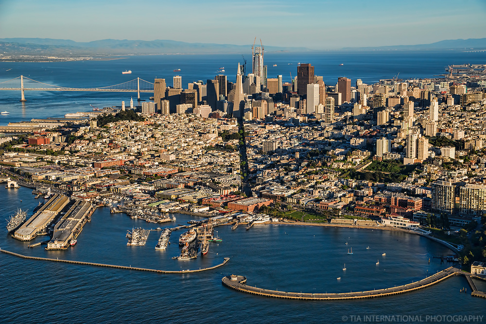 Aquatic Park Pier (foreground) & Downtown SF