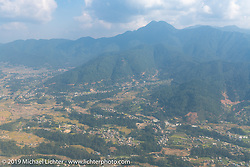 The Kathmandu valley coming into Tribhuvan International Airport in Kathmandu, Nepal for Motorcycle Sherpa's Ride to the Heavens motorcycle adventure. Sunday, November 3, 2019. Photography ©2019 Michael Lichter.