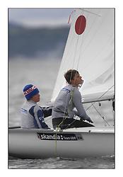 470 Class European Championships Largs - Day 6..GBR857, Ben SAXTON, Richard MASON, Royal Thames YC