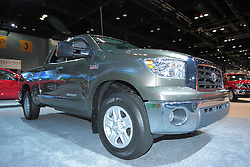 11 February 2009:  2009 TOYOTA TUNDRA: ToyotaÕs full-size pickup truck for Õ09 continues to offer a choice of 45 model variations in three wheelbases, three cab styles, three bed lengths, three engines, three trim levels, and with 4x2 and 4x4 drivetrains. Tundra E85 flex fuel models are now standard on 4x4 models in select regions, creating nine additional model configurations. TRD Sport will be available on the Tundra grade 4x2 Regular Cab and Double Cab standard bed models with the 5.7-liter V8. TRD Rock Warrior will be available exclusively on the Tundra grade 4x4 Double Cab (standard bed) and CrewMax.. The Chicago Auto Show is a charity event of the Chicago Automobile Trade Association (CATA) and is held annually at McCormick Place in Chicago Illinois.