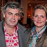 NLD/Den Haag/20110117 - Premiere film Sonny Boy, Rob Oudkerk en partner Marieke Hallie