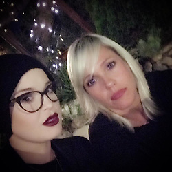 """Kelly Osbourne releases a photo on Instagram with the following caption: """"\ud83d\udda4\ud83d\udc9c\ud83d\udc41"""". Photo Credit: Instagram *** No USA Distribution *** For Editorial Use Only *** Not to be Published in Books or Photo Books ***  Please note: Fees charged by the agency are for the agency's services only, and do not, nor are they intended to, convey to the user any ownership of Copyright or License in the material. The agency does not claim any ownership including but not limited to Copyright or License in the attached material. By publishing this material you expressly agree to indemnify and to hold the agency and its directors, shareholders and employees harmless from any loss, claims, damages, demands, expenses (including legal fees), or any causes of action or allegation against the agency arising out of or connected in any way with publication of the material."""