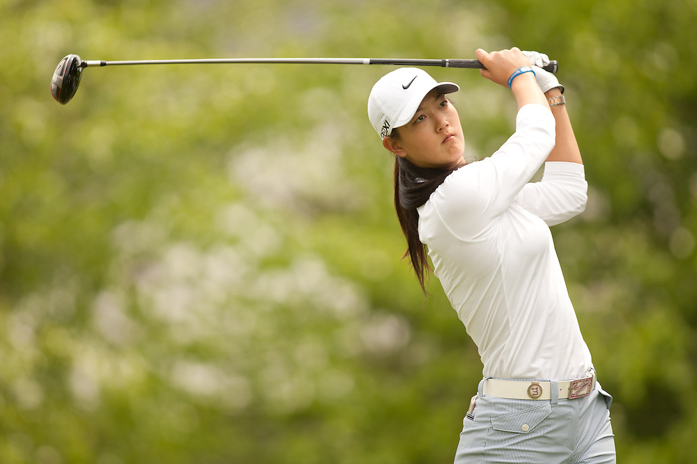 GLADSTONE, NJ - MAY 19: Michelle Wie plays a shot during the first round of the 2011 Sybase Match Play Championship at Hamilton Farm Golf Club in Gladstone, New Jersey on May 19, 2011. (photograph ©2011 Darren Carroll) *** Local Caption *** Michelle Wie