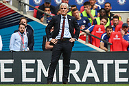 Southampton manager Mark Hughes during the The FA Cup match between Chelsea and Southampton at Wembley Stadium, London, England on 22 April 2018. Picture by Toyin Oshodi.