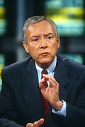 U.S. Senator Orrin Hatch appears on NBC's Meet the Press talk show April 28, 1996 in Washington, DC.