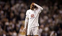 Photo: Paul Thomas.<br /> Tottenham Hotspur v Sevilla. UEFA Cup. Quarter Final, 2nd Leg. 12/04/2007.<br /> <br /> Dimitar Berbatov shows his dejection at the end of the game.