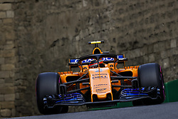 April 28, 2018 - Baku, Azerbaijan - VANDOORNE Stoffel (bel), McLaren Renault MCL33, action during the 2018 Formula One World Championship, Grand Prix of Europe in Azerbaijan from April 26 to 29 in Baku  (Credit Image: © Hoch Zwei via ZUMA Wire)