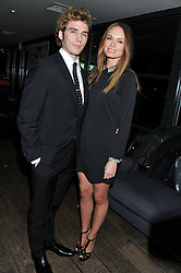 SAM CLAFLIN and LAURA HADDOCK at the InStyle Best of British Talent Event in association with Lancôme and Avenue 32 held at The Rooftop Restaurant, Shoreditch House, Ebor Street, London E1 on 30th January 2013.