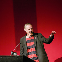 Russ Bestley<br /> On stage at the Stoke Newington Literary Festival. 9 June 2014<br /> <br /> Picture by David X Green/Writer Pictures