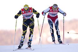 05.01.2011, Nordic Arena, Toblach, ITA, FIS Cross Country, Tour de Ski, Qualifikation Sprint Women and Men, im Bild Cyril Miranda (FRA, #34) und Juergen Pinter (AUT, #50). EXPA Pictures © 2011, PhotoCredit: EXPA/ J. Groder