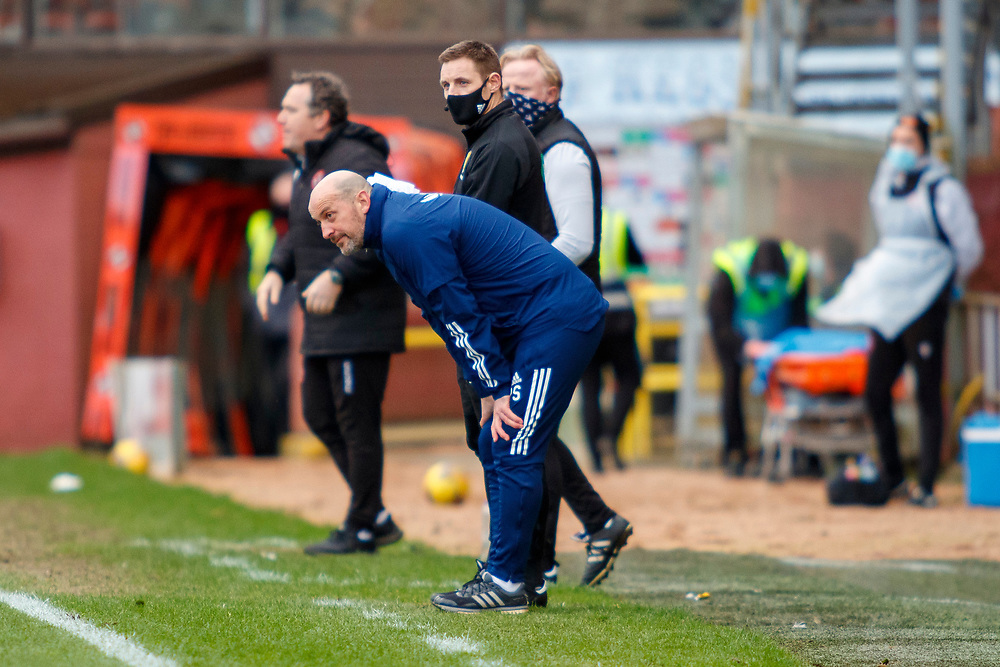 DUNDEE, SCOTLAND, MARCH 20, 2020:  Dundee Utd V Aberdeen FC Ladbrokes SPFL Premiership fixture at Tannadice Park, Dundee.<br /> <br /> Pictured: Paul Sheerin (Aberdeen FC Intrim Manager)<br /> <br /> <br /> (Photo: Newsline Media)