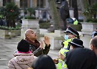 anti lockdown protest Parliament Square london photo by <br /> Krisztian Elek