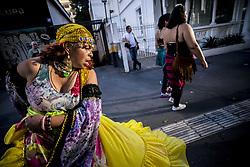 June 4, 2017 - SâO Paulo, São paulo, Brazil - Gypsies dance on Avenida Paulista on a sunny Sunday afternoon. (Credit Image: © Cris Faga via ZUMA Wire)