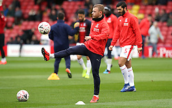 Crystal Palace's Max Meyer warms up before the FA Cup quarter final match at Vicarage Road, Watford.