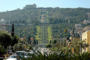 Israel, Haifa, Bahai Gardens and Shrine of the B?b. This Shrine is, for Bahais, one of the most sacred spots on earth, second only to the Shrine of Bahaullah situated a few miles away, north of the city of Acre. Both Shrines are visited by thousands of pilgrims each year.