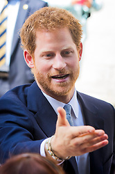 Prince Harry talks to members of the public as he leaves following a visit to the Leeds Leads: Encouraging Happy Young Minds event, a charity fair and panel discussion aimed at highlighting the issues that affect the mental well-being of young people in the city and how organisations can support future generations.