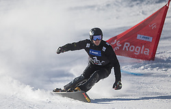 Sobolev Andrey during the men's Snowboard giant slalom of the FIS Snowboard World Cup 2017/18 in Rogla, Slovenia, on January 21, 2018. Photo by Urban Meglic / Sportida