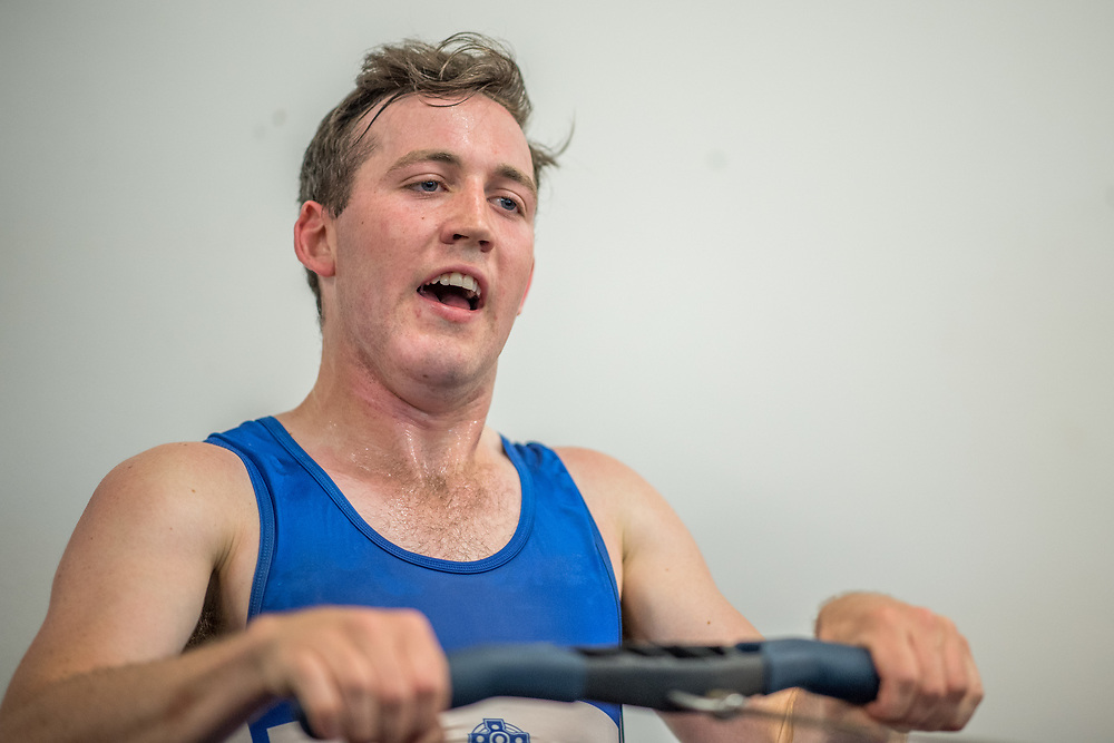 Jared Brenssell, Oamaru Rowing Club<br /> <br /> SRPC squad ergometer training at HPSNZ Apollo Sports Centre, Christchurch. Tuesday 20 November 2018 © Copyright photo Steve McArthur / @RowingCelebration