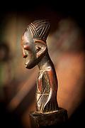 Carved figurine, Camp Ngaga, Odzala-Kokoua National Park.