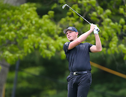 May 19, 2019 - Farmingdale, NY, U.S. - FARMINGDALE, NY - MAY 19: Matt Wallace of England takes a tee shot during the Final Round of the 2019 PGA Championship, on the Black Course, Bethpage State Park, in Farmingdale, NY. (Photo by Joshua Sarner/Icon Sportswire) (Credit Image: © Joshua Sarner/Icon SMI via ZUMA Press)