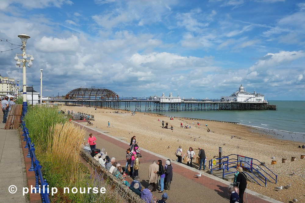 Eastbourne Pier, East Sussex after the fire in July 2014
