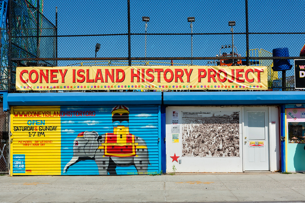 The storefront of the Coney Island History Project.