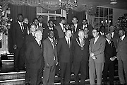 13/06/1963<br /> 06/13/1963<br /> 13 June 1963<br /> Coras Trachtala Reception for West Indian Cricket team at the Gresham Hotel, Dublin.