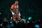 Triple H enters the ring during WrestleMania on April 3, 2016 in Arlington, Texas.