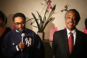 l to r: Spike Lee and Rev. Al Sharpton at Rev. Al Sharpton's 55th Birthday Celebration and his Salute to Women on Distinction held at The Penthouse of the Soho Grand on October 6, 2009 in New York City