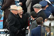 Former Vice President Dick Cheney and wife Lynn Cheney arrive for the Inauguration of President-elect Donald Trump as the 45th President on Capitol Hill January 20, 2017 in Washington, DC.
