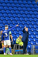 Football - 2019 / 2020 Emirates FA Cup - Third Round: Cardiff City vs. Carlisle United<br /> <br /> Cardiff City manager Neil Harris on the touchline empty seats in background, at Cardiff City Stadium.<br /> <br /> COLORSPORT/WINSTON BYNORTH