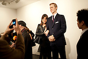 CAROLYN HODLER; PRINCE WILLIAM WAXWORK, 'Engagement' exhibition of work by Jennifer Rubell. Stephen Friedman Gallery. London. 7 February 2011. -DO NOT ARCHIVE-© Copyright Photograph by Dafydd Jones. 248 Clapham Rd. London SW9 0PZ. Tel 0207 820 0771. www.dafjones.com.