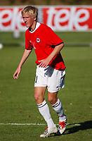 Per Egil Flo, G15.<br /> <br /> Fotball G15: Norge - Frankrike 0-4. Privatlandskamp. Moelv, 28. september 2004. (Foto: Peter Tubaas/Digitalsport).