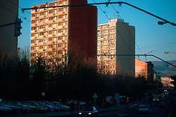 CZECH REPUBLIC BOHEMIA TEPLICE NOV03 - Socialist style housing in the north Bohemian town of Teplice....jre/Photo by Jiri Rezac....© Jiri Rezac 2003....Contact: +44 (0) 7050 110 417..Mobile:   +44 (0) 7801 337 683..Office:    +44 (0) 20 8968 9635....Email:   jiri@jirirezac.com..Web:     www.jirirezac.com