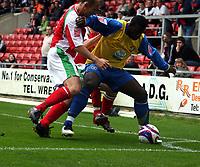 Photo: Mark Stephenson.<br /> Wrexham v Hereford United. Coca Cola League 2. 01/09/2007.Hereford's goal scorer Trevoe Benjamin trys to wast time in the corner