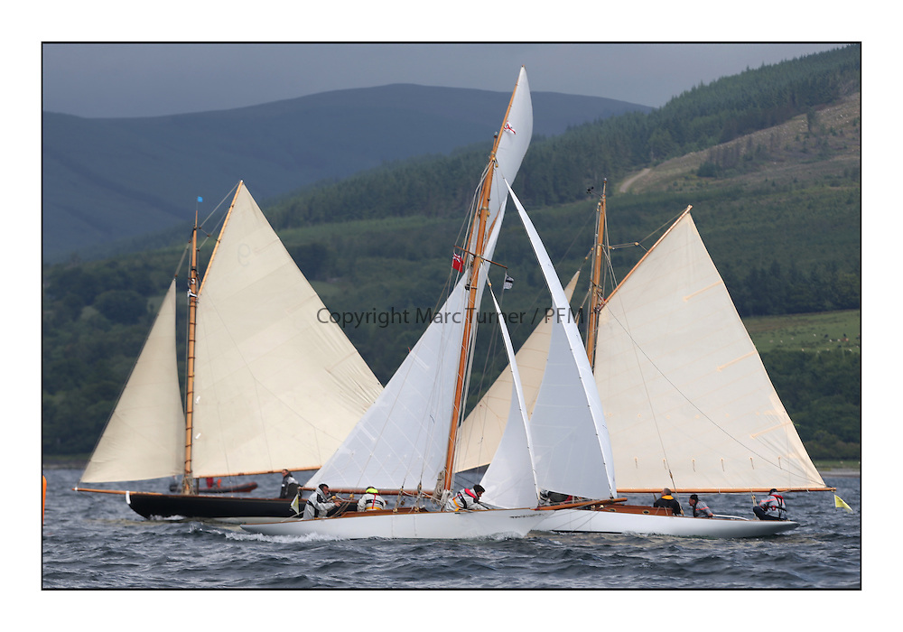 The final day of racing of the Fife Regatta on the King's Course North of Great Cumbrae<br /> <br /> Tringa, G&H Scharbaum, GER, Gaff Sloop, Wm Fife 3rd, 2010,<br /> Fiona, Didier Cotton, FRA, Gaff Cutter, Wm Fife 3rd, 2005,<br /> Oblio, Gordon Turner, GBR, Gaff Cutter, Wm Fife 3rd, 2007<br /> <br /> <br /> * The William Fife designed Yachts return to the birthplace of these historic yachts, the Scotland's pre-eminent yacht designer and builder for the 4th Fife Regatta on the Clyde 28th June–5th July 2013<br /> <br /> More information is available on the website: www.fiferegatta.com