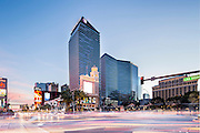 The Strip, Las Vegas, Nevada, USA at dusk