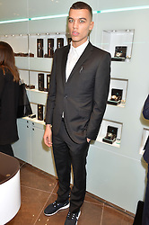 DUDLEY O'SHAUGHNESSY at a party in celebration of LCM 2015 and the launch of the Tateossian's first ever men's-only boutique at 55 Sloane Square, London on 10th January 2015.