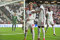 Football - 2023 UEFA European Under-21 Championship - Qualifying - Group G - England vs Kosovo - Stadium MK - Tuesday 7th September 2021<br /> <br /> Cole Palmer of England celebrates scoring goal no 2 with Noni Madueke<br /> <br /> Credit : COLORSPORT/Andrew Cowie