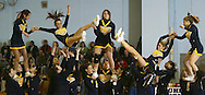 Highland cheerleaders perform during a game against Rondout Valley in Highland on Jan. 26, 2007.