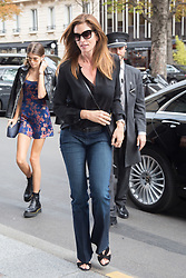 Kaia Gerber and Cindy Crawford out and about in Paris against the Paris Fashion Week, France, September 25 2017. Photo by Nasser Berzane/ABACAPRESS.COM