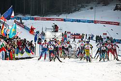 Lukas Hofer (ITA), Peppe Femling (SWE) during the Mixed Relay 2x 6 km / 2x 7,5 km at day 3 of IBU Biathlon World Cup 2019/20 Pokljuka, on January 23, 2020 in Rudno polje, Pokljuka, Pokljuka, Slovenia. Photo by Peter Podobnik / Sportida