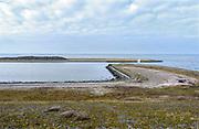 Nederland, the Netherlands, Kornwerderzand, 22-2-2019 De Afsluitdijk zal de komende jaren aanpassingen krijgen om de verwachte zeespiegelstijging en extreem weer het hoofd te kunnen bieden . Foto: Flip Franssen