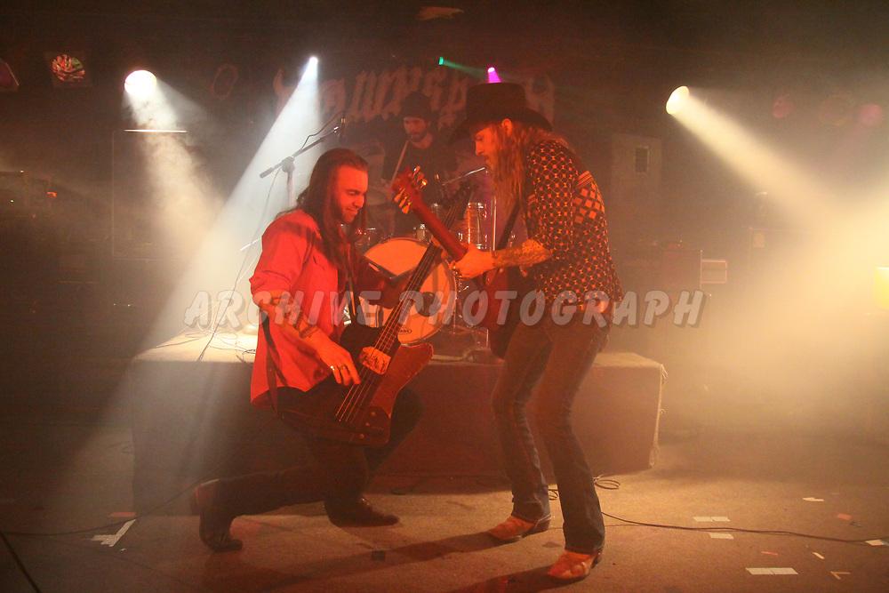 WESTLAND, MI, SATURDAY, MARCH 01, 2014: The Wild Savages, at Token Lounge, Westland, MI, 03/01/2014.  (Image Credit: Michael Spleet / 2SnapsUp Photography)